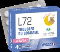 Lehning L72 Comprimés Orodispersibles Plq Pvc/pvdc/alu/40 à TOURNAN-EN-BRIE