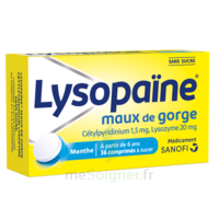 LysopaÏne Comprimés à Sucer Maux De Gorge Sans Sucre 2t/18 à TOURNAN-EN-BRIE