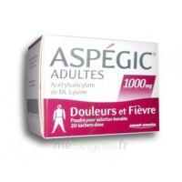 Aspegic Adultes 1000 Mg, Poudre Pour Solution Buvable En Sachet-dose 20 à TOURNAN-EN-BRIE