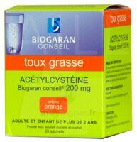 Acetylcysteine Biogaran Conseil 200 Mg Pdr Sol Buv En Sachet B/20 à TOURNAN-EN-BRIE