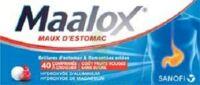 Maalox Maux D'estomac Hydroxyde D'aluminium/hydroxyde De Magnesium 400 Mg/400 Mg Sans Sucre Fruits Rouges, Comprimé à Croquer édulcoré à La Saccharine Sodique, Au Sorbitol Et Au Maltitol à TOURNAN-EN-BRIE