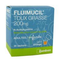 Fluimucil Expectorant Acetylcysteine 200 Mg Sans Sucre, Granulés Pour Solution Buvable En Sachet édulcorés à L'aspartam Et Au Sorbitol à TOURNAN-EN-BRIE