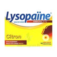 LysopaÏne Ambroxol 20 Mg Pastilles Maux De Gorge Sans Sucre Citron Plq/18 à TOURNAN-EN-BRIE